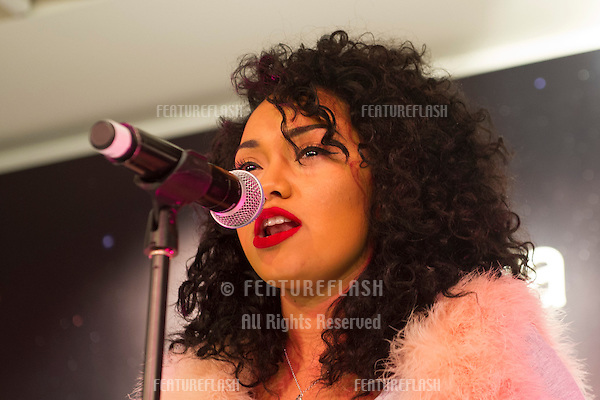 Leigh Anne Pinnock from Little Mix at the Bershka Flagship Store Launch Party, Oxford Street, London. 14/11/2012 Picture by: Simon Burchell / Featureflash.