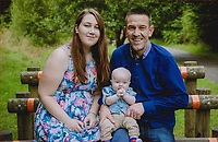 Pictured: Family handout picture of Neal Jex (R) his daughter Tanysha (L) and her son Charlie (C)<br /> Re: Natasha Jex (also known as Natasha Smith) has killed her husband Neil Jex (also known as Neal Jex) at their house in Aberdare, Wales, UK.