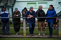 Fans watch the Manawatu v Bay Of Plenty spell of the Game of Three Halves pre-season rugby match at Taihape Domain in Taihape, New Zealand on Friday, 27 July 2018. Photo: Dave Lintott / lintottphoto.co.nz