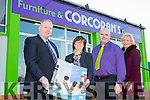Corcoran's Furniture Store's and Cahersiveen Credit Union launching their new joint Christmas promotion pictured l-r; Kieran Corcoran, Elma Shine Cahersiveen Credit Union, P.J.Sugrue & Majella Kelly.