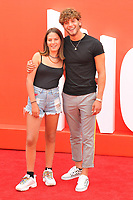 Oriane Booker and Eyal Booker at the &quot;Incredibles 2&quot; UK film premiere, BFI Southbank, Belvedere Road, London, England, UK, on Sunday 08 July 2018.<br /> CAP/CAN<br /> &copy;CAN/Capital Pictures