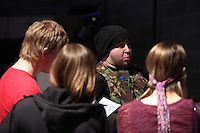 Pictured: Players getting briefed. Saturday 29 March 2014<br />