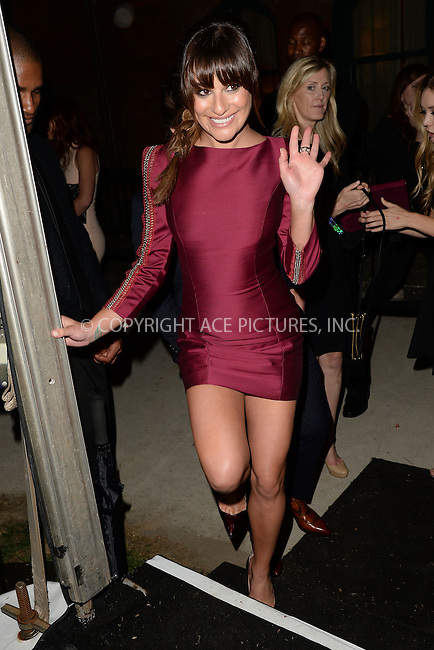 WWW.ACEPIXS.COM<br /> May 11, 2015 New York City<br /> <br /> Lea Michele attending the Entertainment Weekly and People celebration of The New York Upfronts at The Highline Hotel onMay 11, 2015 in New York City.<br /> <br /> Please byline: Kristin Callahan/AcePictures<br /> <br /> Tel: (646) 769 0430<br /> e-mail: info@acepixs.com<br /> web: http://www.acepixs.com