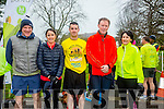 Enjoying the Parkrun on Saturday for  RTE  Operation Transformation were Colman Ward, Aisling Ward, Colin Aherne, Arthur Spring and Catherine O Halloran
