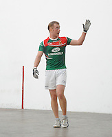 21st September 2013; Stephen Cooney, Mayo, celebrates his win in the Intermediate Singles Final. GAA Handball, All-Ireland Finals, Broadford Handball Club, Co Limerick. Picture credit: Tommy Grealy/actionshots.ie.