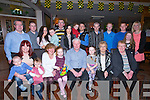 50TH; On Saturday in O'Riadás Bar and Restaurant,Maurice Harry Callaghan (Callaghan) celebrated his 50th birthday with his family Seated l-r:Oisín,Gillian and Charlie Trant, Maried,Ellyson,Harry (birthday) and Louise O'Callaghan,Sheila O'Sullivan and Margarete McGlynn.Back l-r: Jonathan and Caitriana Callaghan, Ryan Browne, Thomas McGlynn,Juleanne and Stuart Templeman,Noel Tarrant, Donnchadh,Michael and Annmarie Callaghan and Jessica Hewitt.