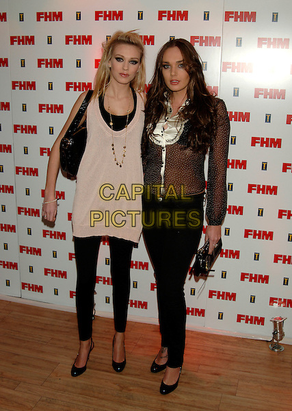 GUESTS.The FHM 100 Sexiest Women In The World Party 2006 at Madame Tussauds, London, UK..May 3rd, 2006.Ref: PL.full length black trousers tights sheer white dress top.www.capitalpictures.com.sales@capitalpictures.com.© Capital Pictures.