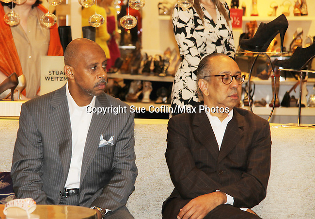 xx - Ruben Santiago-Hudson (AMC, A/W) and George C. Wolfe (honored - co-director of Normal Heart and Tony nominated - The Innaugural Celebration of Color on Broadway Awards were held on June 9, 2011 at SAKS Fifth Avenue, New York City, New York. The event was held upstairs where beautiful shoes are sold and where a part of the sales this night will benefit OPUS 118 Harlem's School of Music. (Photo by Sue Coflin/Max Photos)