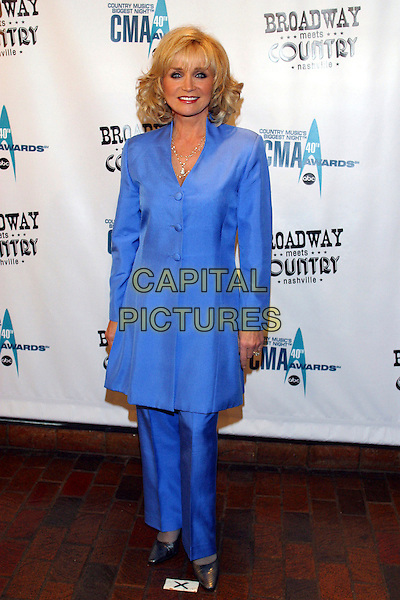BARBARA MANDRELL.Broadway Meets Country, a benefit for TPAC Education and The Actors' Fund held at the Tennessee Performing Arts Center, Nashville, Tennessee, USA..October 30th, 2006.Ref: ADM/RR.full length blue trousers jacket.www.capitalpictures.com.sales@capitalpictures.com.©Randi Radcliff/AdMedia/Capital Pictures