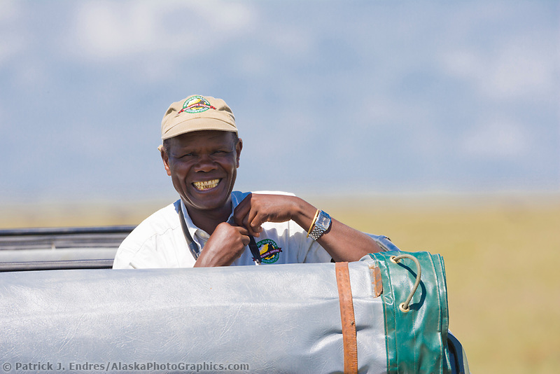 African naturalist and guide, Serengeti National Park, Tanzania, East Africa
