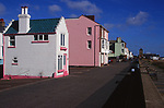 A082RD Miniature house Fantasia Aldeburgh sea front promenade Suffolk England