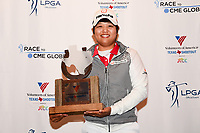 Haru Nomura (JPN) with the trophy for winning the Volunteers of America Texas Shootout Presented by JTBC, at the Las Colinas Country Club in Irving, Texas, USA. 4/30/2017.<br /> Picture: Golffile | Ken Murray<br /> <br /> <br /> All photo usage must carry mandatory copyright credit (&copy; Golffile | Ken Murray)
