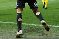 Brentford's Sergi Canos was wearing an unusual design of of socks during Brentford vs Oxford United, Emirates FA Cup Football at Griffin Park on 5th January 2019