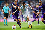 Daniel Ceballos Fernandez, Dani Ceballos (r), of Real Madrid competes for the ball with Federico Chiesa of ACF Fiorentina during the Santiago Bernabeu Trophy 2017 match between Real Madrid and ACF Fiorentina at the Santiago Bernabeu Stadium on 23 August 2017 in Madrid, Spain. Photo by Diego Gonzalez / Power Sport Images