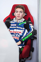 Luca Grünwald in his box at pre season winter test IRTA Moto3 & Moto2 at Ricardo Tormo circuit in Valencia (Spain), 11-12-13 February 2014