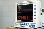 Heart monitor...This heart monitor is used during surgery and in conjuction with an Anaesthetic machine to monitor the patients heart activity over time. Royalty Free