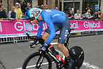 Filippo Ganna (ITA) in action during the Men Elite Individual Time Trial of the UCI World Championships 2019 running 54km from Northallerton to Harrogate, England. 25th September 2019.<br /> Picture: Seamus Yore | Cyclefile<br /> <br /> All photos usage must carry mandatory copyright credit (© Cyclefile | Seamus Yore)