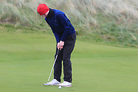Darren Leufer (Athenry) on the 12th green during Round 2 of the Ulster Boys Championship at Portrush Golf Club, Portrush, Co. Antrim on the Valley course on Wednesday 31st Oct 2018.<br /> Picture:  Thos Caffrey / www.golffile.ie<br /> <br /> All photo usage must carry mandatory copyright credit (&copy; Golffile | Thos Caffrey)