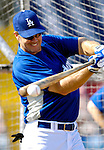 13 March 2007: Los Angeles Dodgers second baseman Jeff Kent takes batting practice prior to facing the Detroit Tigers in a spring training game at Holman Stadium in Vero Beach, Florida.<br /> <br /> Mandatory Photo Credit: Ed Wolfstein Photo