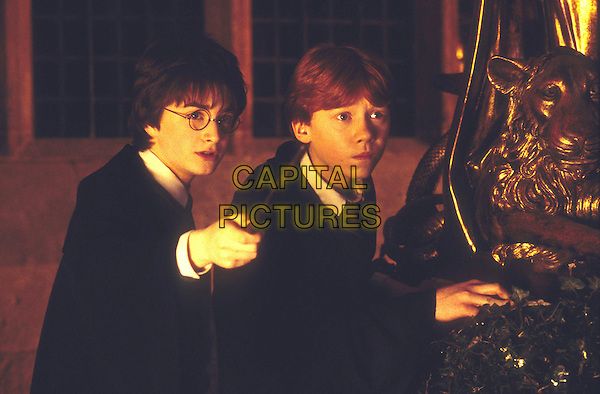 DANIEL RADCLIFFE & RUPERT GRINT .in Harry Potter and the Chamber of Secrets.Filmstill - Editorial Use Only.Ref: FBAW.www.capitalpictures.com.sales@capitalpictures.com.Supplied By Capital Pictures.