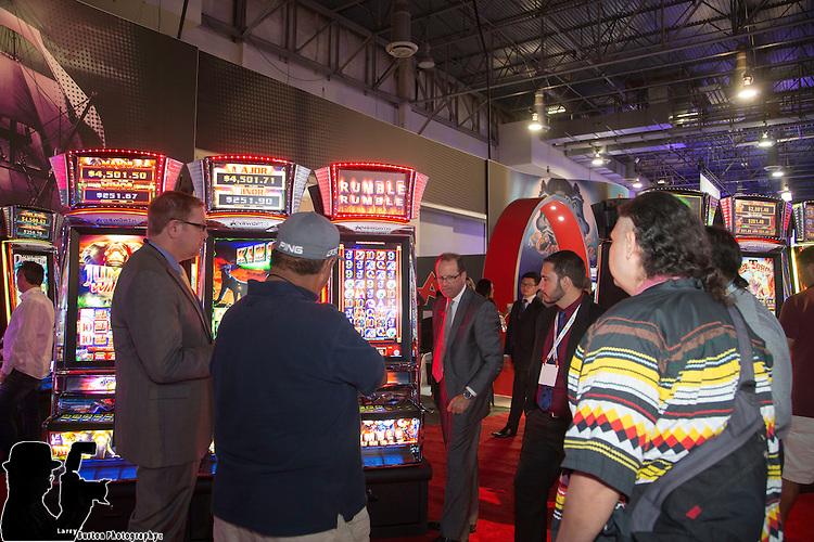 2015 G2E Gaming Show in Las Vegas Ainsworth Booth
