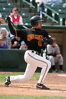 Rochester Red Wings Jason Tyner during an International League game at Frontier Field on June 4, 2006 in Rochester, New York.  (Mike Janes/Four Seam Images)