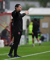 Fleetwood Town manager Joey Barton shouts instructions to his team from the technical area<br /> <br /> Photographer Chris Vaughan/CameraSport<br /> <br /> The EFL Sky Bet League One - Lincoln City v Fleetwood Town - Saturday 31st August 2019 - Sincil Bank - Lincoln<br /> <br /> World Copyright © 2019 CameraSport. All rights reserved. 43 Linden Ave. Countesthorpe. Leicester. England. LE8 5PG - Tel: +44 (0) 116 277 4147 - admin@camerasport.com - www.camerasport.com