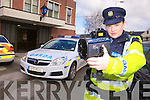 WARNING: Garda Caroline Hennessy from Tralee station warning motorists to slow down as Kerry Gardai launch their road safety campaign.