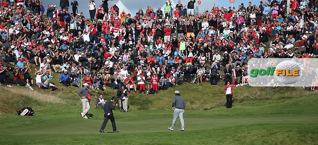 Thorbjorn Olesen (DEN) birdies the 16th on consecutive days during Round Two of the Made in Denmark 2014 Pro-Am from the Himmerland Golf & Spa Resort, Aalborg, Denmark. Picture:  David Lloyd / www.golffile.ie