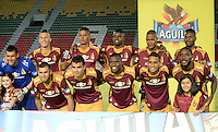IBAGUÉ -COLOMBIA, 15-01-2015. Jugadores de Deportes Tolima posan para una foto previo al encuentro con Atlético Huila por la fecha 10 de la Liga Aguila I 2016 jugado en el estadio Manuel Murillo Toro de la ciudad de Ibagué./ Players of  Deportes Tolima pose toa photo prior the matcha against Atletico Huila for the date 10 of the Aguila League I 2016 played at Manuel Murillo Toro stadium in Ibague city. Photo: VizzorImage / Juan Carlos Escobar / Str