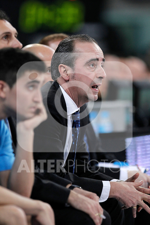 Asefa Estudiantes' coach Txus Vidorreta during Spanish Basketball King's Cup match.February 07,2013. (ALTERPHOTOS/Acero)