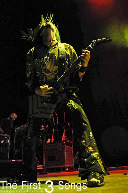 Guitarist JASON HOOK of Five Finger Death Punch performs live at Riverbend Music Center in Cincinnati, Ohio on October 17, 2010.
