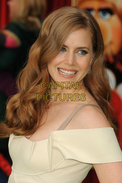 "Amy Adams.""The Muppets"" Los Angeles Premiere held at the El Capitan Theatre, Hollywood, California, USA..November 12th, 2011.headshot portrait white top off the shoulder  .CAP/ADM/BP.©Byron Purvis/AdMedia/Capital Pictures."