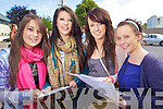LAura Dillane, Alannah Bradley, Kellie Taylor and Liz Leen all from TraleeStudents from Presentation secondary School Tralee after receiving their Leaving Certificate results on Wednesday.