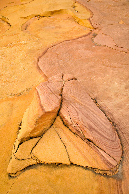 Bizarre design in sandstone rock formation
