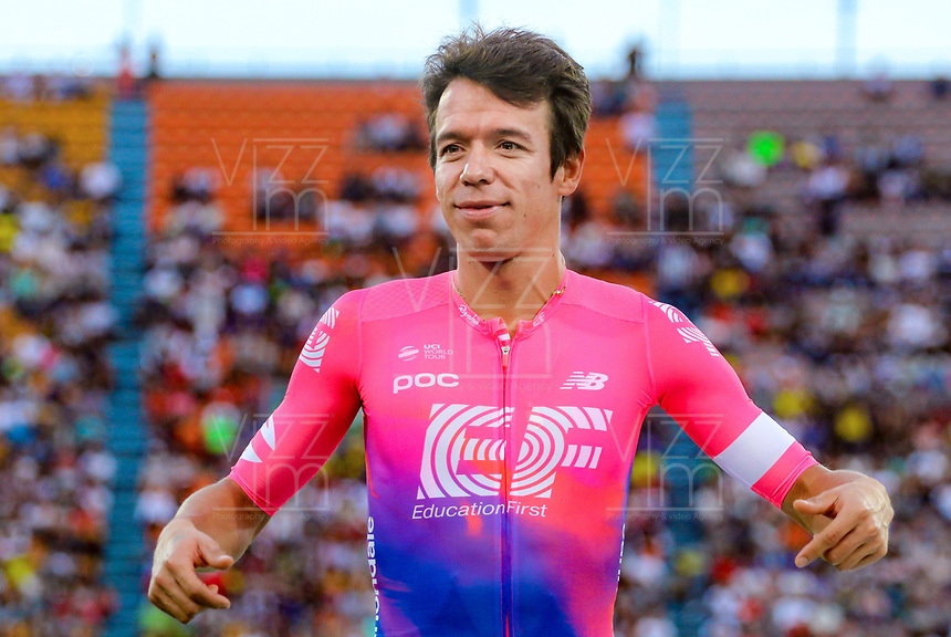 MEDELLIN - COLOMBIA, 10-02-2019: Rigoberto Uran del equipo Team EF Education First - DRAPAC (USA) durante la presentación oficial de equipos que participarán en el Tour Colombia 2.1 2019. /  Rigobertop Uran of the Team EF Education First - DRAPAC (USA) during the presentation of the whole teams that participate inthe Tour Colombia 2.1 2019   Photo: VizzorImage / Anderson Bonilla / Cont