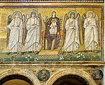 Mosaic of Jesus and Mary, Basilica di Sant'Apollinare Nuevo, 6th century Byzantine mosaics, Ravenna, Italy