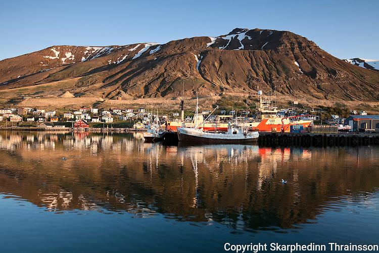 Siglufjordur in Trollaskagi, north Iceland