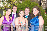 BALL: Having Ball at the ISK Killorglin Debs in the Abbey Gate Hotel, Tralee on Friday. l-r: Sinead Gleeson,Michael Daly,Cara Teahan,Timothy O'Connell and Megan O'Connor.....