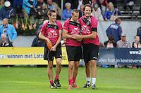 KAATSEN: BITGUM: Hoofdklasse kaatsen, winnaars Martijn Olijnsma, Marten Feenstra en Pier Piersma, ©foto Martin de Jong