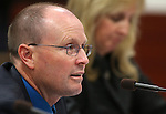 Jim Wells, executive director of the Nevada Public Employees' Benefit Program, testifies in committee at the Legislative Building in Carson City, Nev. on Friday, Feb. 8, 2013. .Photo by Cathleen Allison