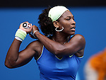 Serena Willams of the USA in action against Shuai Peng of China on day 6 of the Australian Open Tennis , 24-1-09