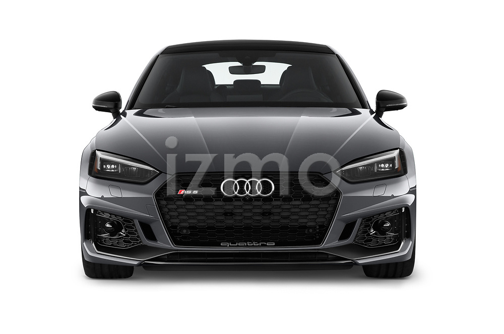 Car photography straight front view of a 2019 Audi RS-5-Sportback - 5 Door Hatchback Front View