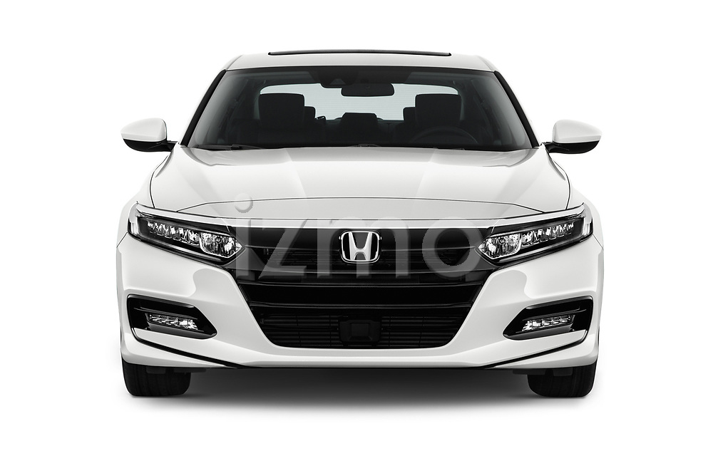 Car photography straight front view of a 2018 Honda Accord EX 4 Door Sedan