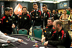 Final match between Joan Carcela of Spain and Pokerstars Team Pro Arnaud Mattern of France.