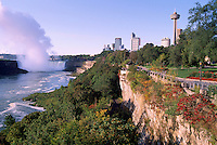 Niagara Falls (Canadian 'Horseshoe Falls') and the Niagara River, in the City of Niagara Falls, Ontario, Canada - Natural Wonder of the World