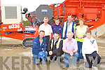 Michael Quirke, Eugene Lyons, John, Liam Quirke. Back row: Tom, Mike Quirke, Pat Kavanagh and Mary Quirke Killorglin looking at the Sandvik QJ330 at the Sandvik machinery display in Quirkes Quarry Killarney on Saturday