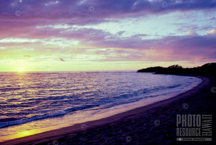 Beach on the Kona Coast at sunset