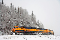 Holiday Train, Alaska Railroad, Seward, Alaska