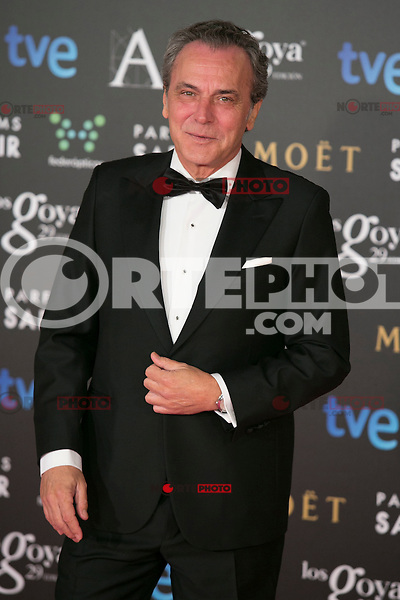 Jose Coronado attend the 2015 Goya Awards at Auditorium Hotel, Madrid,  Spain. February 07, 2015.(ALTERPHOTOS/)Carlos Dafonte) /NORTEphoto.com